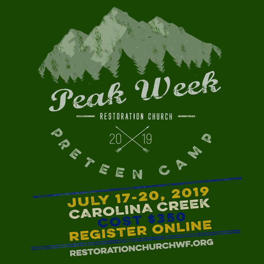 Peak Week - Preteen Camp