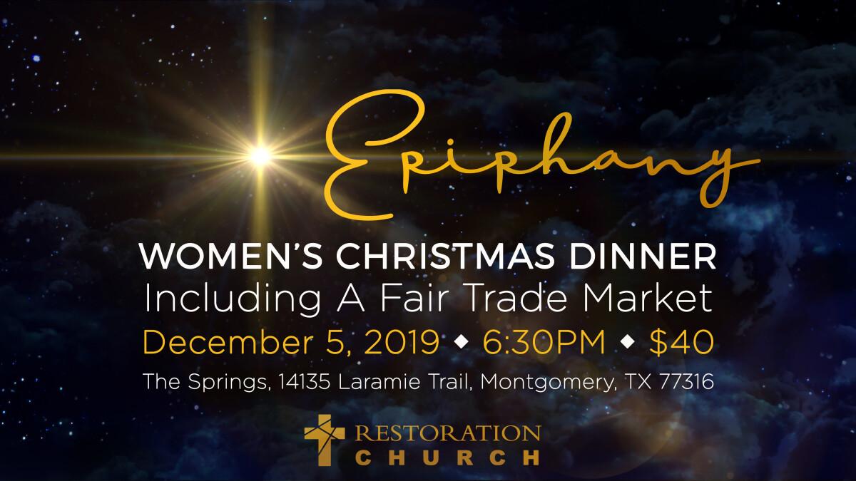 Epiphany: Women's Christmas Dinner & Fair Trade Market